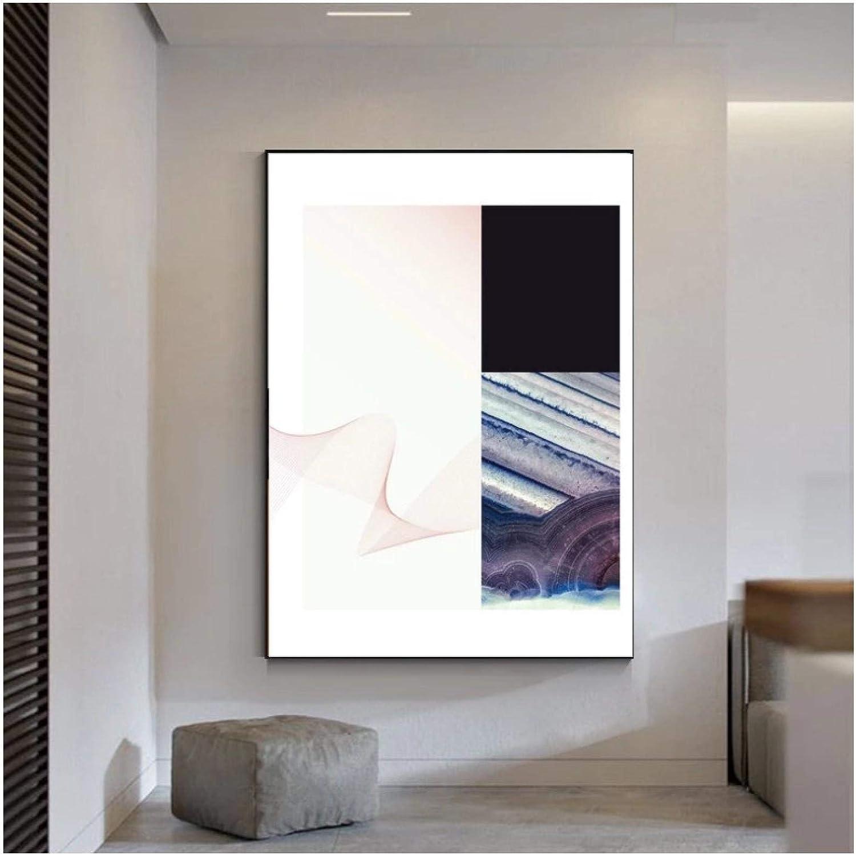 Póster de lienzo de ágata de ondas abstractas, lienzo impreso, imágenes artísticas de pared para decoración de dormitorio, regalo, 60x80 cm sin marco