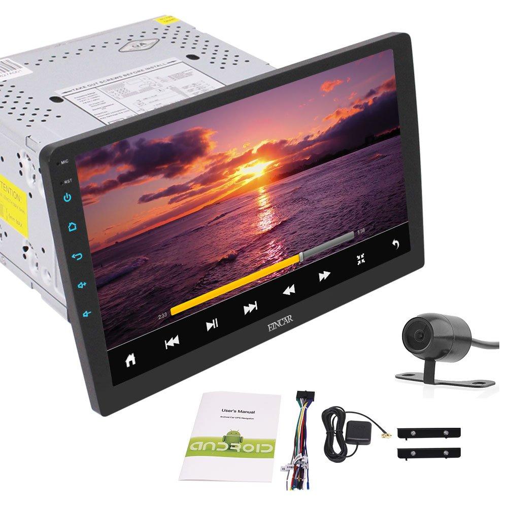 リバースカメラとBluetooth搭載EinCarユニバーサル2ギガバイトのAndroid 6.0のカーステレオラジオダブルディンヘッドユニットカーAutoradio GPSナビゲーションレシーバー10.1インチ取り外し可能なタッチスクリーン B074NWZK5X