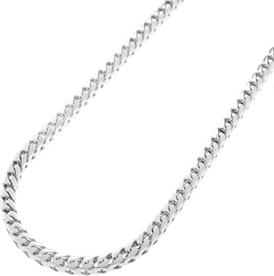 Sterling World Unisex .925 Silver 1.5MM Solid Franco Chain Necklace