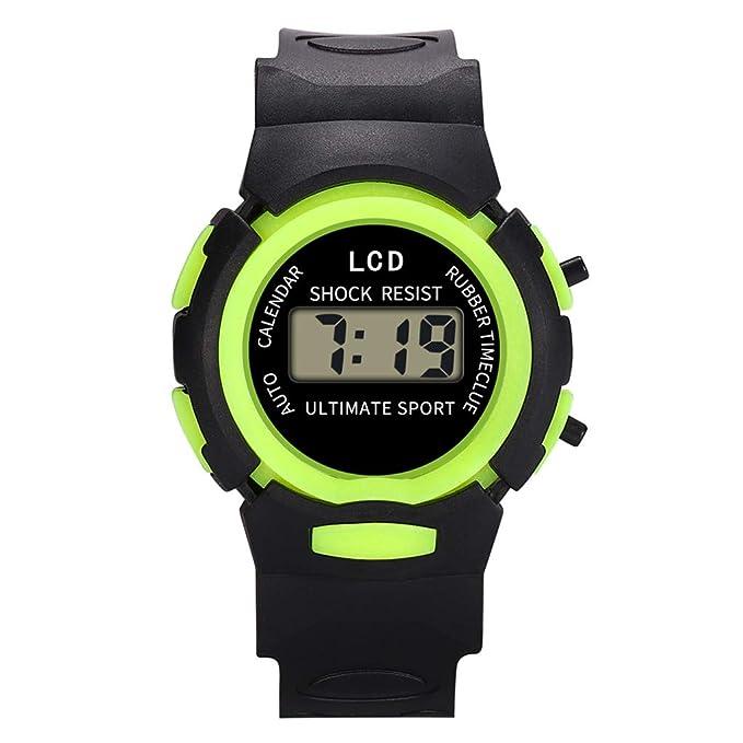 Kanpola Niño Smartwatch Fashion Relojes, Reloj de Pulsera electrónico electrónico para niños, niñas, Deportes, analógico, Digital, LED Nuevo: Amazon.es: ...