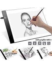 Alivier Tablero de luz A4 LED Tracer Tablero de Dibujo Ultra Delgado Tableros USB con alimentación