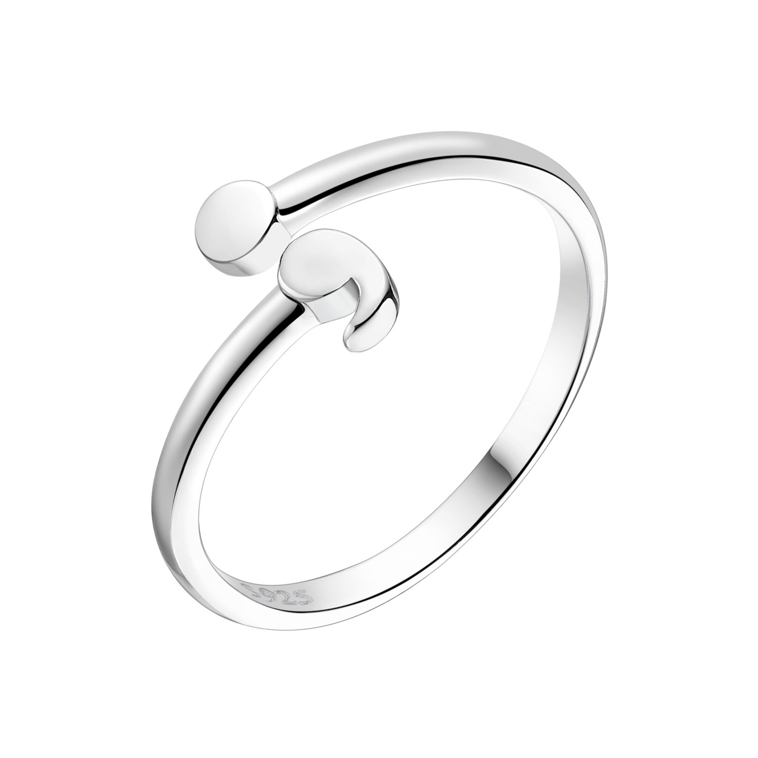 Sattaj|LIFE Semicolon Ring, 925 Sterling Silver|Wear This to Raise and Support Awareness for Suicide and Depression|Keep Breathing, Life is Worth Living!