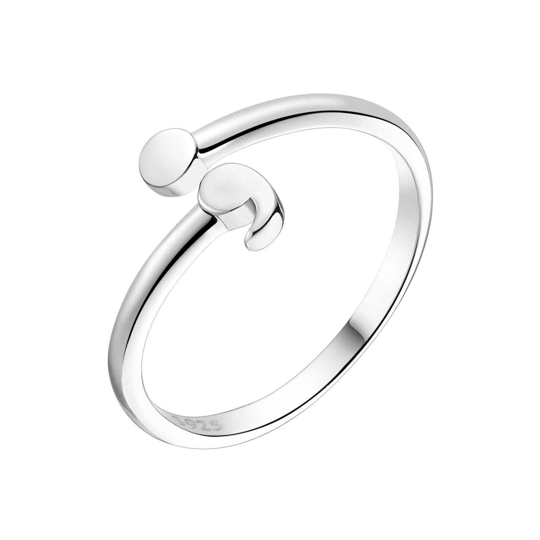 Anti Deppression Awareness 925 Sterling Silver Semicolon Ring for Women (11)