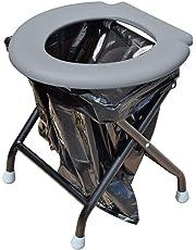 Yachticon Kit Toilette pliable avec 6 sacs - gris