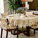 DIDIDD Simple and Fashionable Pastoral Jacquard Fabric Table Cloth Tablecloth,A,180x270cm(71x106inch)