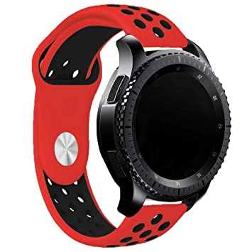 Runtenic Correa 20mm, 20mm Correa Silicona para Samsung Galaxy Watch 42mm/Huawei Watch 2/Samsung Gear S2 Classic/Gear Sport/TICHWATCH 2/Garmin ...