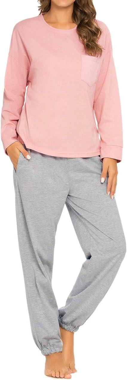 Ladies BHS Cotton Squirrel Embroided Long Leg Long Sleeve PJ Set Lounge Wear Ex