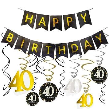 Amazon.com: Decoración para 40 cumpleaños – 40 cumpleaños ...