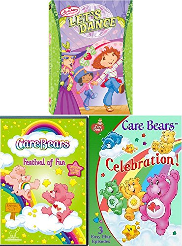 Party Dance Strawberry Shortcake & Bear Tales + CareBears Festival of Fun TV Episodes Care Bears Celebration Triple Pack Laugh / Parade / Trains / Big top / Fair / Music Video