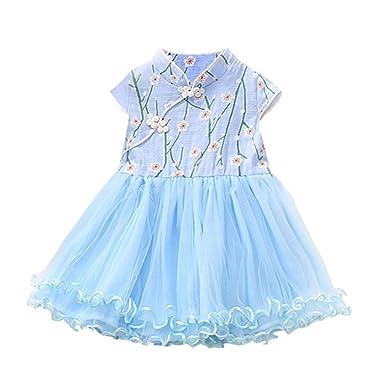 88b0d9cea8 Lonshell Toddler Clothing Toddler Infant Baby Girls Princess Mini Dresses  Summer Short Sleeve Sweet Floral Tutu Tulle Dress Birthday Party Wedding  Dress For ...
