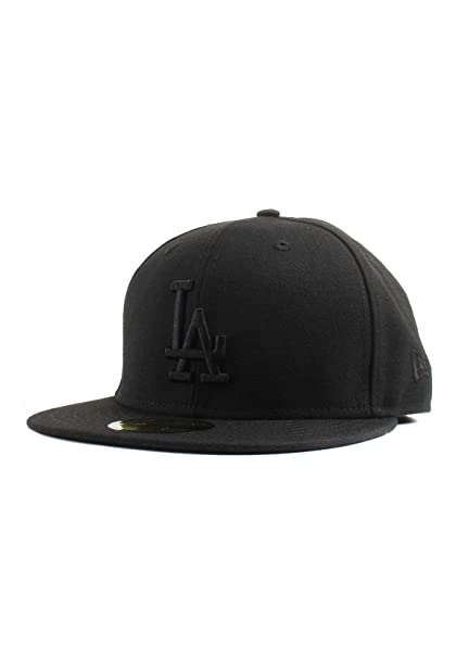 huge selection of 46cdf c045e Image Unavailable. Image not available for. Color  New Era 59Fifty Los  Angeles LA Dodgers Blackout Fitted Hat ...
