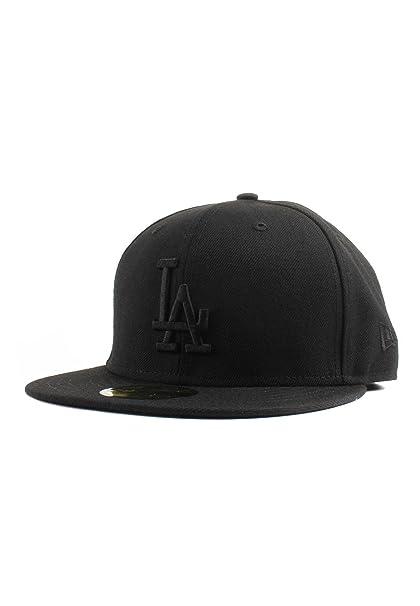 Image Unavailable. Image not available for. Color  New Era 59Fifty Los  Angeles LA Dodgers Blackout Fitted Hat (Black) Men s Cap 7d68c5f94e7a