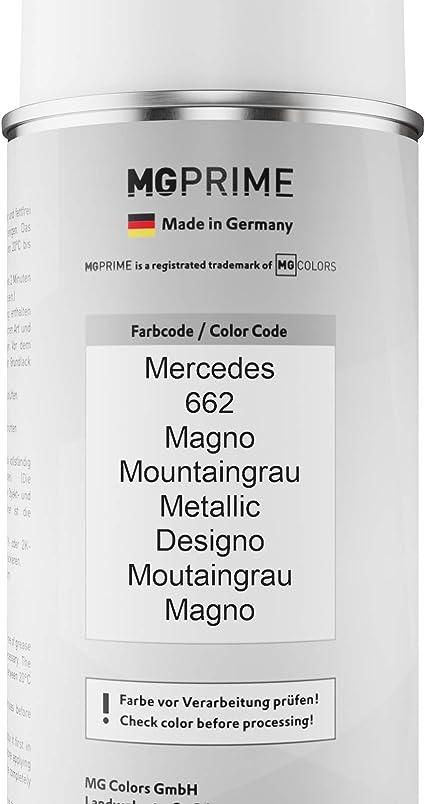Mg Prime Autolack Sprühdosen Set Für Mercedes 662 Magno Mountaingrau Metallic Designo Moutaingrau Magno Basislack Klarlack Spraydose 400ml Auto