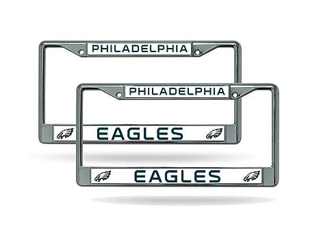 Amazon.com : Philadelphia Eagles Chrome License Plate Frame ...