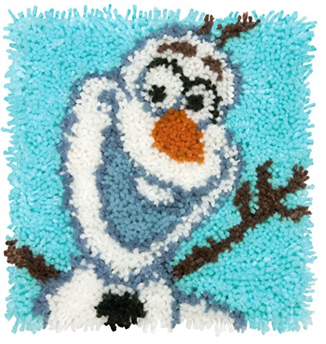 (Dimensions Disney Frozen Olaf Latch Hook Craft Kit for Kids, 12'' x 12'')