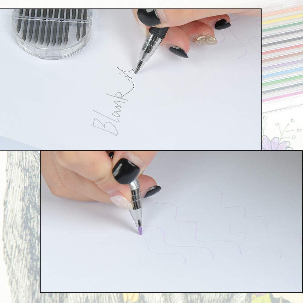 Druckbleistift 2mm mit Clip 2B Mechanical Pencil Set automatischen Minenbleistifte mechanische Bleistifte 27 Set