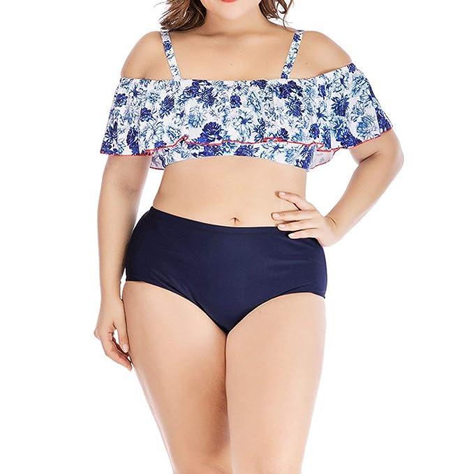 POLP Bikinis Rayas Mujer 2019 Push up Tallas Grandes Mujer Sexy Traje de Gordo Sujetador Tanga
