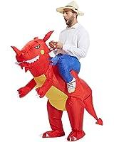 TOLOCO - Inflatable Dinosaur T-REX Adult Fancy Dress Costume