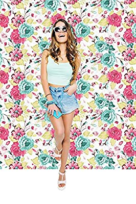 Removable Wallpaper Mural Peel & Stick Seamless Pattern with Floral Background