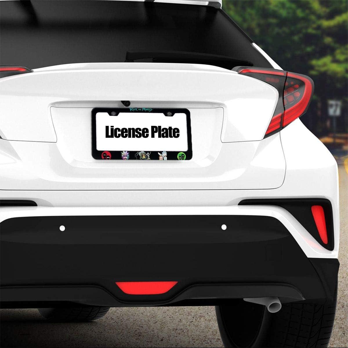 D0zopazkw License Plate Car Frame Collage License Plate Frame Aluminum Rick N Morty