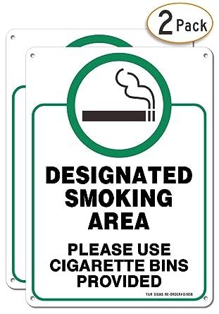 Amazon.com: Señal con diseño de área de fumar, por favor ...