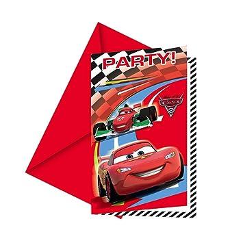 Disney Cars 2   Einladungskarten + Umschläge, 6 Stück