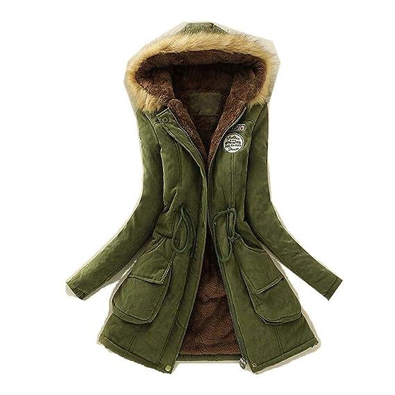 Damen Winter Parka Hoodies Trenchcoat Starke Kapuze Mantel Jacke Wintermantel Lange Daunenmantelwinter Warm Dicker Pelzkragen Jacken Warmer Frauen
