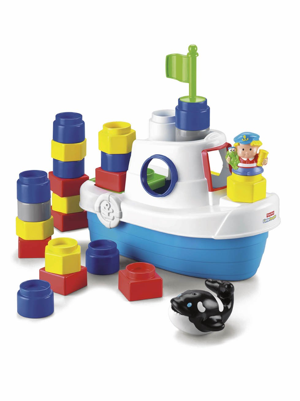 Amazon.com: Fisher-Price Little People Builders Floaty Boat: Toys ...