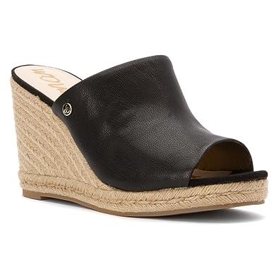 Womens Sandals Sam Edelman Bonnie Black Matte Ontario Leather