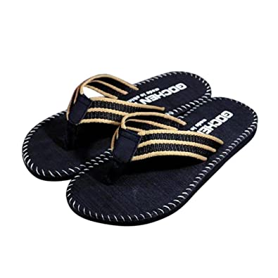 96fed38f7346f4 Riou Mens Adult s Classical Comfortable Clip Toe Flip-Flop Sandals Light  Weight Shower Beach Slippers