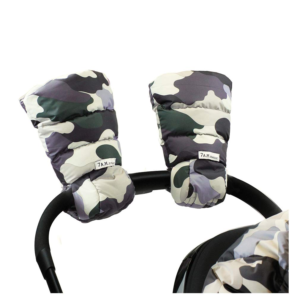 7 A.M. Enfant Warmmuffs Stroller Gloves with Universal Fit (Camo Forest)