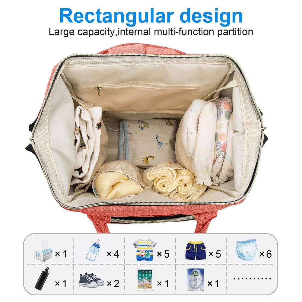 Mokaloo Large Baby Bag, Multi-functional Travel Back Pack