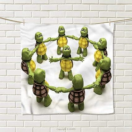 Amazon.com: hocmbk Reptile Square Towel Ninja Turtles ...