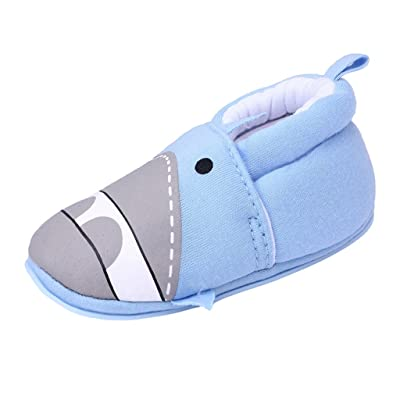 Annnowl Baby Slippers Non Slip Soft Rubber Sole Cartoon Crib Shoes