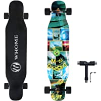 WHOME PRO Dancing Longboards Complete for Adults and Beginners - 42 Inch Dancing Longboard Skateboards for Dancing Cruising Carving Freestyle 8 Layers Alpine Hard Rock Maple Deck Includes T-Tool