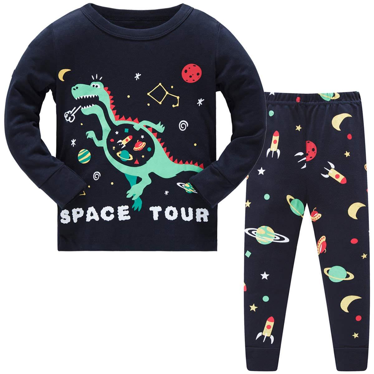 Schmoopy Boys Dinosaur Pajamas Set 2-8 Years