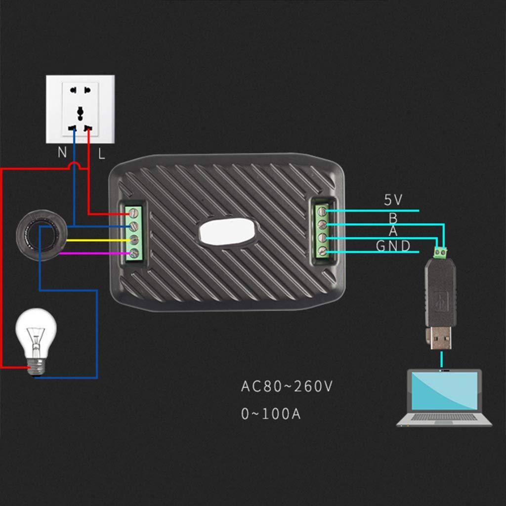 Baoblaze Module Modbus Puissance Rs485 100a Tension Courant Hz Num/érique