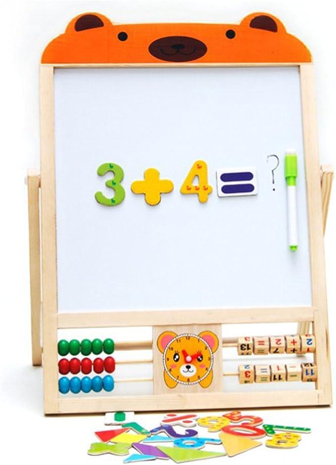 Ours STOBOK Chevalet Jouet Art Magn/étique en Bois Chevalet Animal Puzzle Jeux Premiers Jouets /Éducatifs
