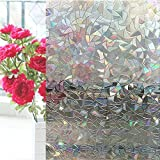 Coavas Static Cling Decorative Privacy Window Film (17.7 by 78.7 inch)