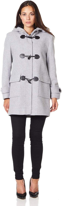 De La Creme Womens Wool Cashmere Winter Hooded Duffle Coat