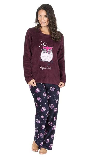 9529f751b Ladies Thermal Fleece Winter Penguin Owl Pyjamas (XL