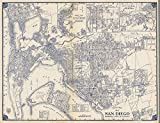 State Atlas | 1938 Thomas Bros. Map of San Diego, National City & La Mesa, California. | Historic Antique Vintage Reprint