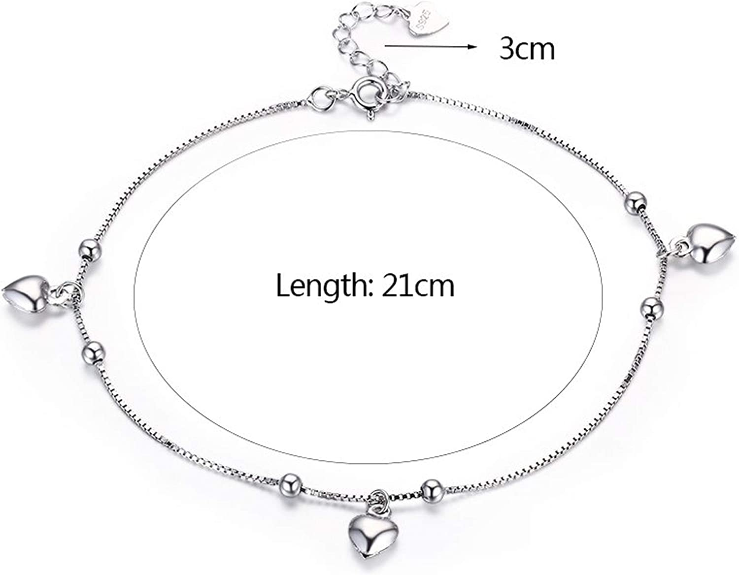 Jewelluna Heart Anklet