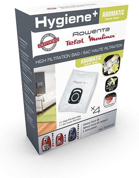 Rowenta ZR200920 Aspiradora cilíndrica Bolsa para el polvo accesorio y suministro de vacío - Accesorio para aspiradora (Aspiradora cilíndrica, Bolsa para el polvo, Blanco, Algodón): Amazon.es: Hogar