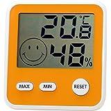 エンペックス気象計 温度湿度計 デジタルmidi 置き掛け兼用 ハニーイエロー TD-8314
