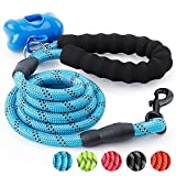 #7: Trary 5 FT Dog Leash with Comfortable Padded Handle - Reflective Leash for Night Safety - Thick Durable Nylon Rope for Small Medium Large Dogs, Blue