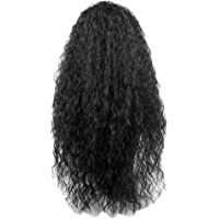 """HOMYL 26"""" Black Long Full Curly Wig Synthetic Afro Wigs for Black Women 