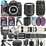 Holiday Saving Bundle for D7100 DSLR Camera + 650-1300mm Telephoto Lens + 18-105mm VR Lens + Tamron 70-300mm Di LD Lens + 500mm Telephoto Lens + Backup Battery - International Version