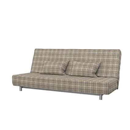 Soferia Replacement Cover for IKEA BEDDINGE 3-seat Sofa-Bed, Fabric Stewart Beige Check