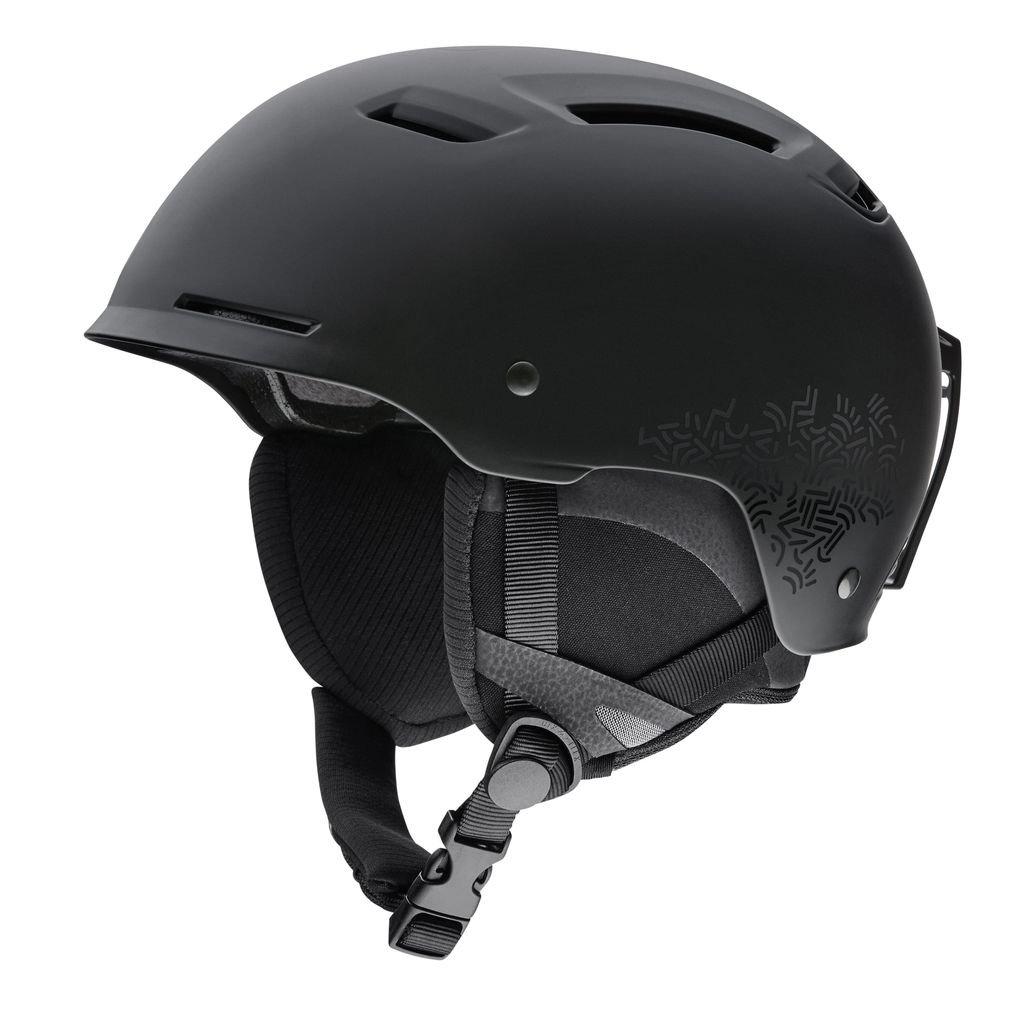 Smith Optics Pointe Adult Ski Snowmobile Helmet - Matte Black New Wave / Large